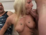hot blonde loves to swallow cum